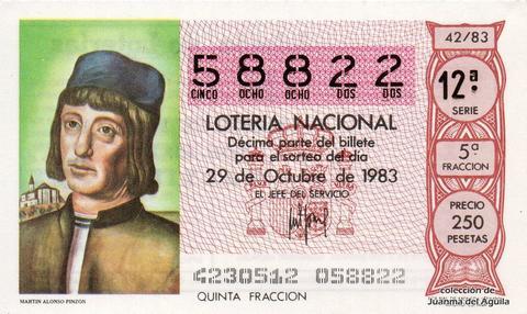 Décimo de Lotería 1983 / 42