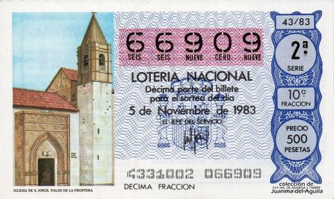 Décimo de Lotería 1983 / 43
