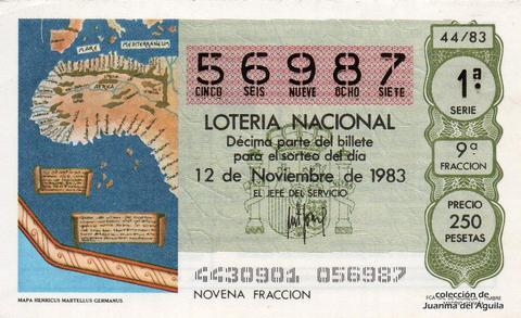 Décimo de Lotería 1983 / 44