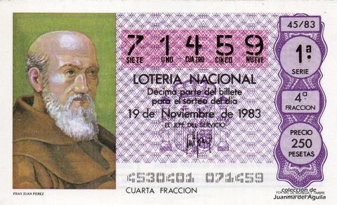 Décimo de Lotería 1983 / 45