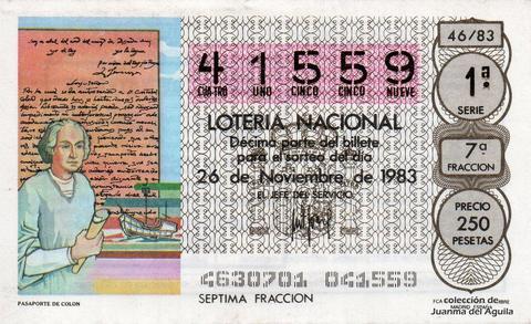 Décimo de Lotería 1983 / 46