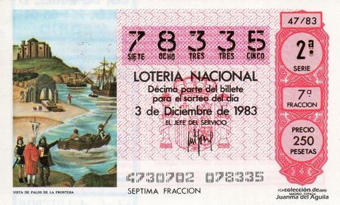 Décimo de Lotería 1983 / 47