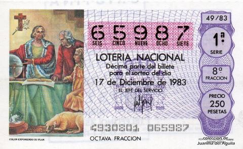 Décimo de Lotería 1983 / 49