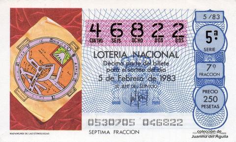 Décimo de Lotería 1983 / 5