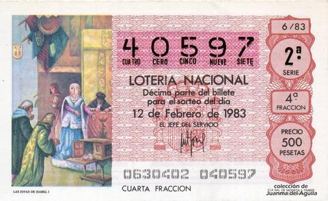 Décimo de Lotería 1983 / 6