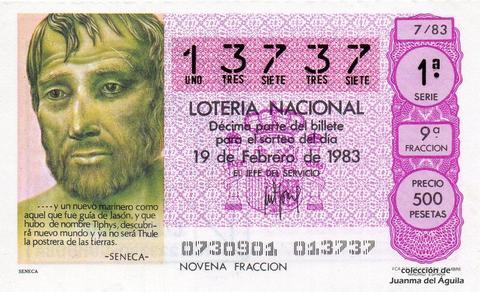 Décimo de Lotería 1983 / 7