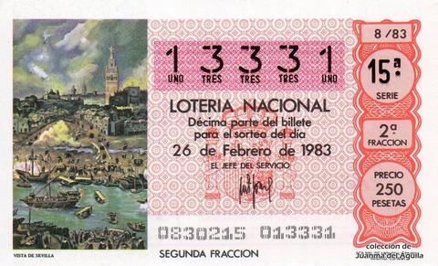 Décimo de Lotería 1983 / 8