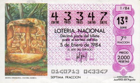 Décimo de Lotería 1984 / 1