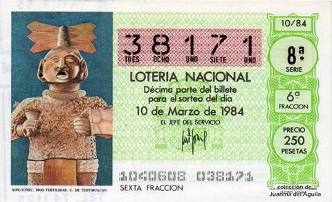Décimo de Lotería 1984 / 10