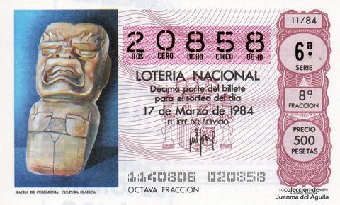 Décimo de Lotería 1984 / 11