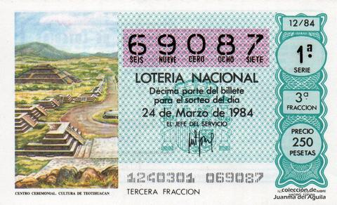 Décimo de Lotería 1984 / 12