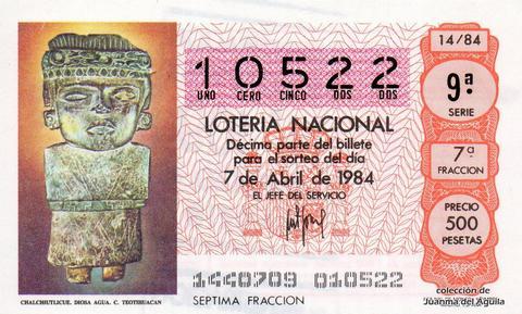Décimo de Lotería 1984 / 14