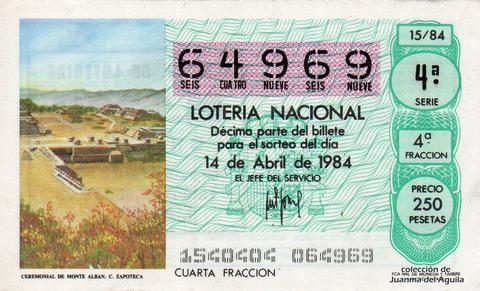 Décimo de Lotería 1984 / 15