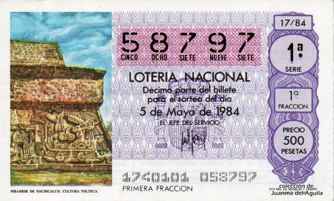 Décimo de Lotería 1984 / 17