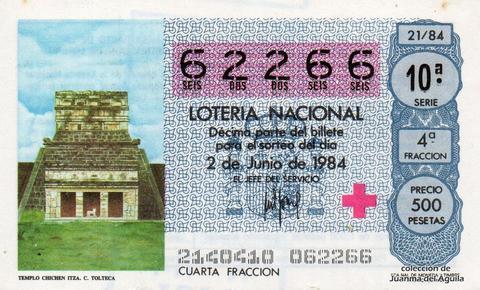 Décimo de Lotería 1984 / 21