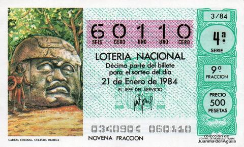 Décimo de Lotería 1984 / 3