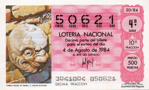 Décimo de Lotería 1984 / 30