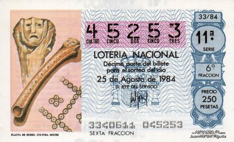 Décimo de Lotería 1984 / 33