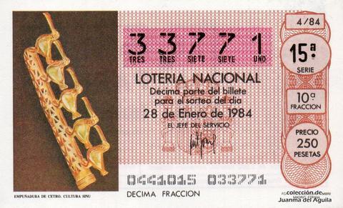 Décimo de Lotería 1984 / 4
