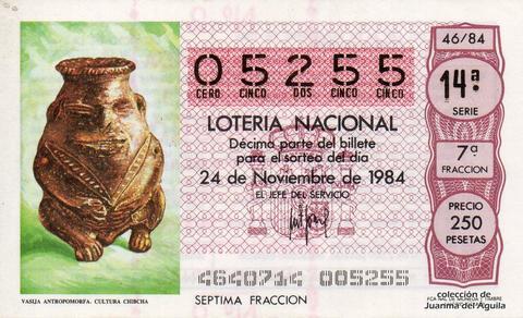 Décimo de Lotería 1984 / 46