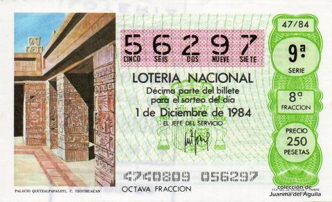 Décimo de Lotería 1984 / 47