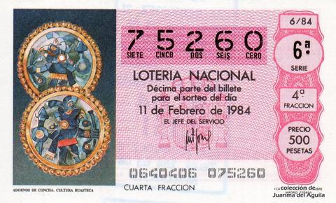 Décimo de Lotería 1984 / 6