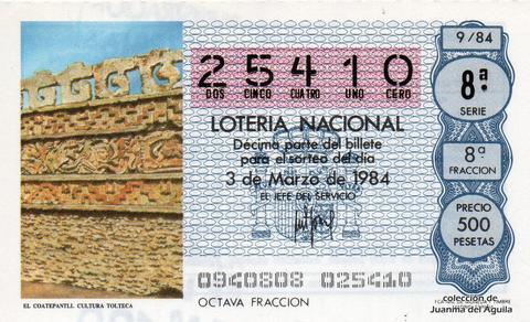 Décimo de Lotería 1984 / 9