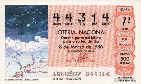 Décimo de Lotería 1986 / 10