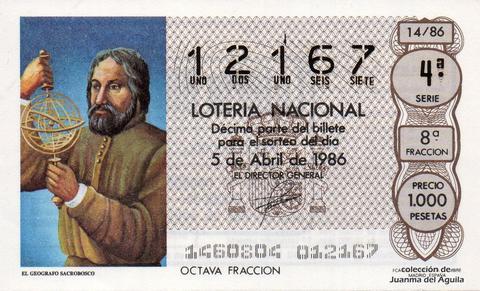 Décimo de Lotería 1986 / 14