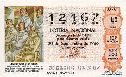 Décimo de Lotería 1986 / 38