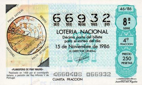 Décimo de Lotería 1986 / 46