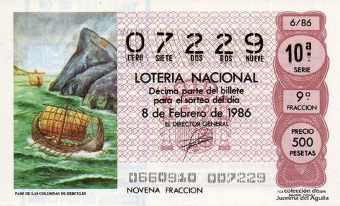 Décimo de Lotería 1986 / 6