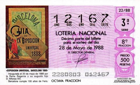 Décimo de Lotería 1988 / 22