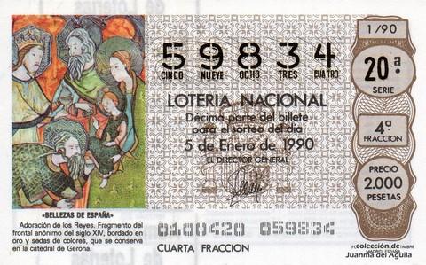 Décimo de Lotería 1990 / 1