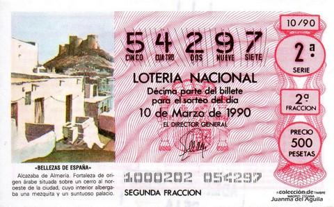 Décimo de Lotería 1990 / 10