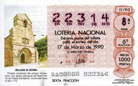 Décimo de Lotería 1990 / 11