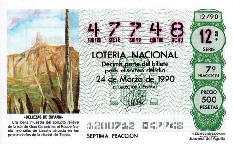 Décimo de Lotería 1990 / 12