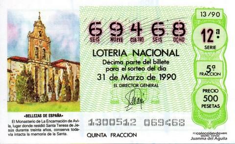 Décimo de Lotería 1990 / 13