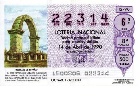 Décimo de Lotería 1990 / 15
