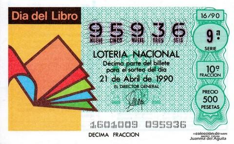 Décimo de Lotería 1990 / 16