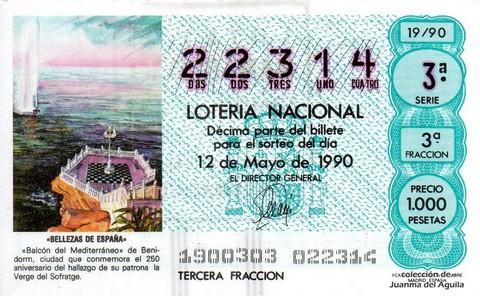 Décimo de Lotería 1990 / 19