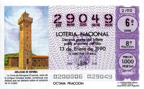 Décimo de Lotería 1990 / 2
