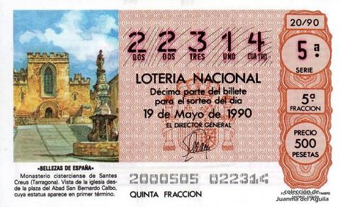 Décimo de Lotería 1990 / 20