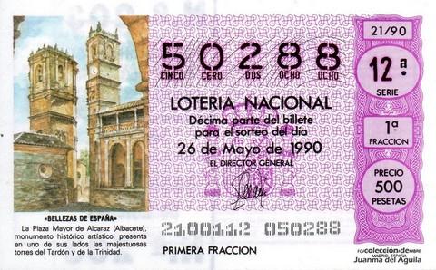 Décimo de Lotería 1990 / 21