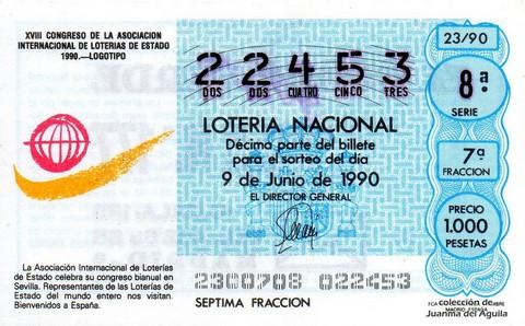 Décimo de Lotería 1990 / 23