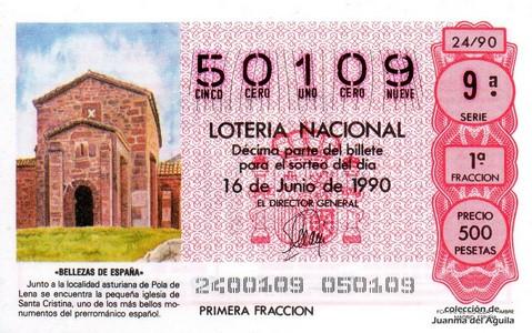 Décimo de Lotería 1990 / 24