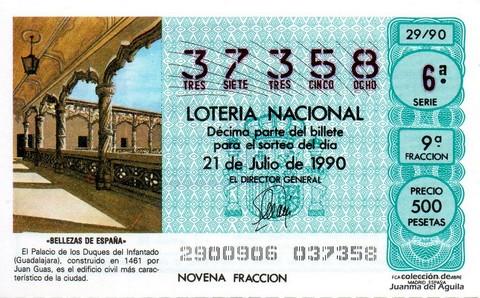 Décimo de Lotería 1990 / 29