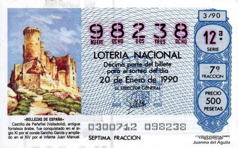 Décimo de Lotería 1990 / 3