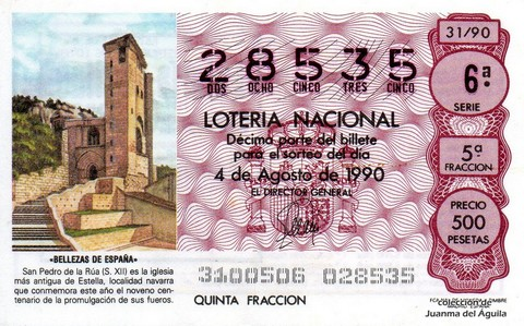 Décimo de Lotería 1990 / 31