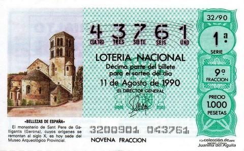 Décimo de Lotería 1990 / 32
